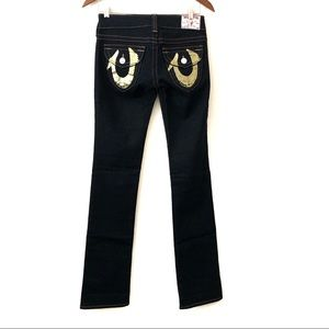 True Religion Billy Foil Painted Womens Jeans 26